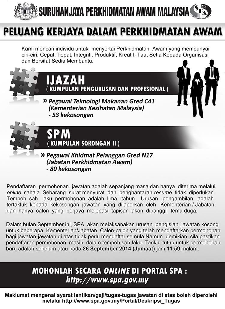Jawatan Kosong SPA September 2014
