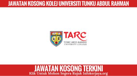 Jawatan Kosong Kolej Universiti Tunku Abdul Rahman
