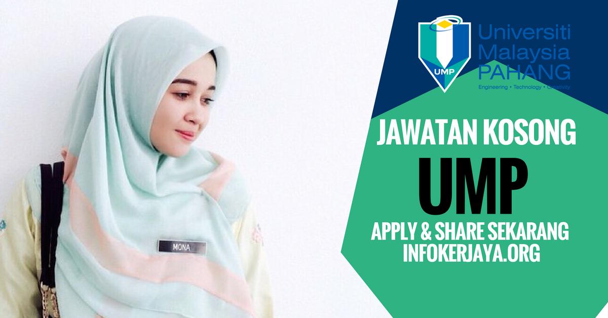 Jawatan Kosong Universiti Malaysia Pahang UMP