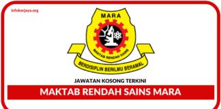 Jawatan Kosong Maktab Rendah Sains Mara MRSM