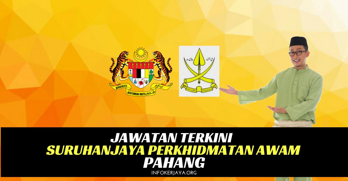 Jawatan Kosong Suruhanjaya Perkhidmatan Awam Pahang