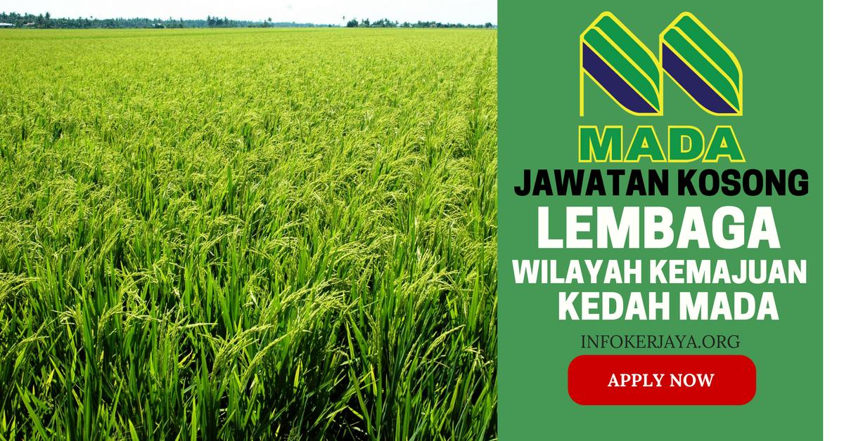 Jawatan Kosong Lembaga Wilayah Kemajuan Kedah MADA