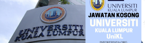 Jawatan Kosong Universiti Kuala Lumpur UniKL