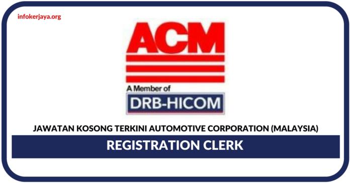 Jawatan Kosong Terkini Automotive Corporation (Malaysia) Sdn Bhd