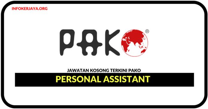 Jawatan Kosong Terkini Personal Assistant Di PAKO