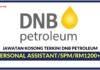 Jawatan Kosong Terkini DNB Petroleum Sdn Bhd