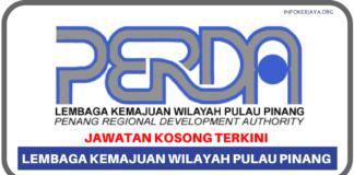 Jawatan Kosong Terkini Lembaga Kemajuan Wilayah Pulau Pinang (PERDA)