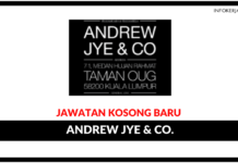 Jawatan Kosong Terkini Andrew Jye & Co.