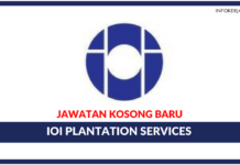 Jawatan Kosong Terkini IOI Plantation Services