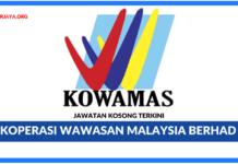 Jawatan Kosong Terkini Koperasi Wawasan Malaysia Berhad (KOWAMAS)