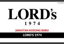 Jawatan Kosong Terkini LORD's 1974