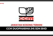 Jawatan Kosong Terkini CCM Duopharma (M) Sdn Bhd