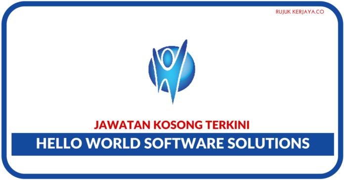Jawatan Kosong Terkini Hello World Software Solutions