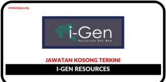 Jawatan Kosong Terkini I-Gen Resources