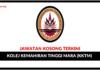 Jawatan Kosong Terkini Kolej Kemahiran Tinggi MARA (KKTM)