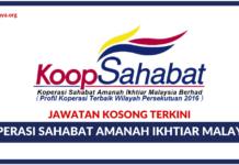 Jawatan Kosong Terkini Koperasi Sahabat Amanah Ikhtiar Malaysia Berhad