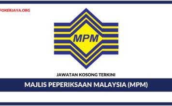 Jawatan Kosong Majlis Peperiksaan Malaysia (MPM)
