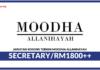 Jawatan Kosong Terkini Secretary Di Moodha Allanihayah