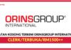 Jawatan Kosong Terkini ORINSGROUP International