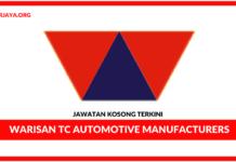 Jawatan Kosong Terkini Operator Di Warisan TC Automotive Manufacturers