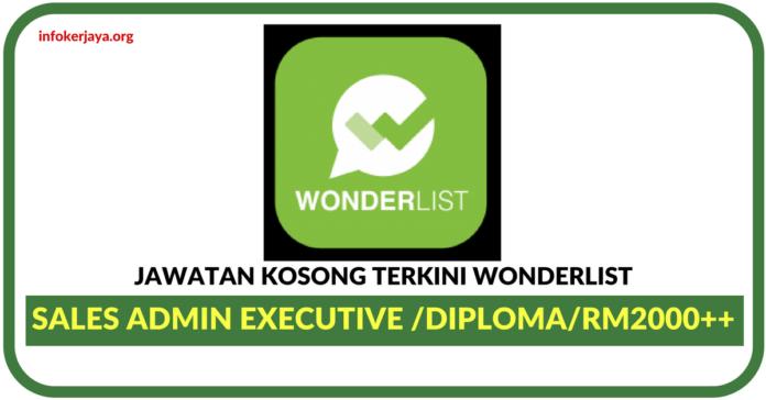 Jawatan Kosong Terkini Wonderlist