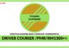 Jawatan Kosong Terkini Driver Courier Di Company Confidential