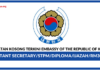 Jawatan Kosong Terkini Embassy of the Republic of Korea