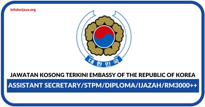 Jawatan Kosong Terkini Embassy of the Republic of Korea