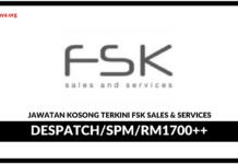 Jawaan Kosong Terkini FSK Sales & Services