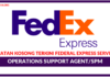 Jawatan Kosong Terkini Federal Express Services (Fedex)