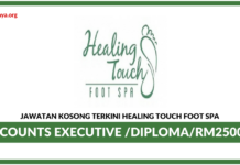 Jawatan Kosong Terkini Accounts Executive Di Healing Touch Foot SPA