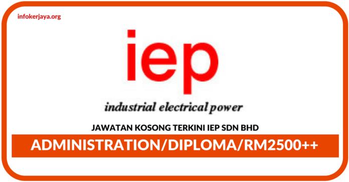 Jawatan Kosong Terkini IEP Sdn Bhd