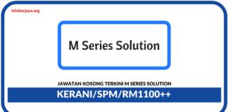 Jawatan Kosog Terkini Clerk Di M Series Solution