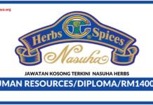 Jawatan Kosong Terkinu Nasuha Herbs