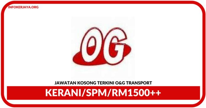 Jawatan Kosong Terkini Kerani Di O&G Transport