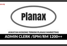Jawatan Kosong Terkini Planax Marketing