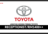 Jawatan Kosong Terkini Receptionist Di Toyota