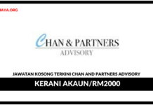 Jawatan Kosong Terkini Kerani Akaun Di Chan And Partners Advisory