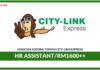 Jawatan Kosong Terkini HR Assistant Di City-Link Express