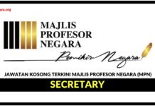 Jawatan Kosong Terkini Majlis Profesor Negara (MPN)
