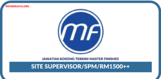 Jawatan Kosong Terkini Site Supervisor Di Master Finishes