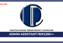 Jawatan Kosong Terkini Admin Assistant Di Project Controline