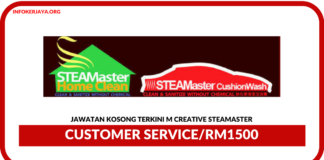 Jawatan Kosong Terkini Customer Service Di Steamaster