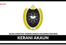 Jawatan Kosong Terkini UniSZA Holdings Sdn Bhd