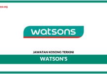 Jawatan Kosong Terkini Inventory Assistant Di Watson's