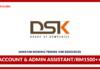 Jawatan Kosong Terkini Account & Admin Assistant Di DSK Resources