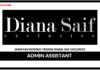 Jawatan Kosong Terkini Admin Assistant Di Diana Saif Exclusive
