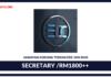 Jawatan Kosong Terkini Secretary Di EDC Sdn Bhd