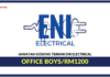 Jawatan Kosong Terkini Office Boys Di Eni Electrical