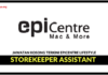 Jawatan Kosong Terkini Storekeeper Assistant Di Epicentre Lifestyle
